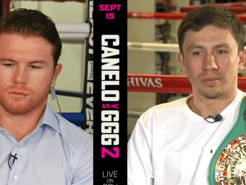 Gennady Golovkin and Canelo Alvarez take part in press conference 2,300km apart