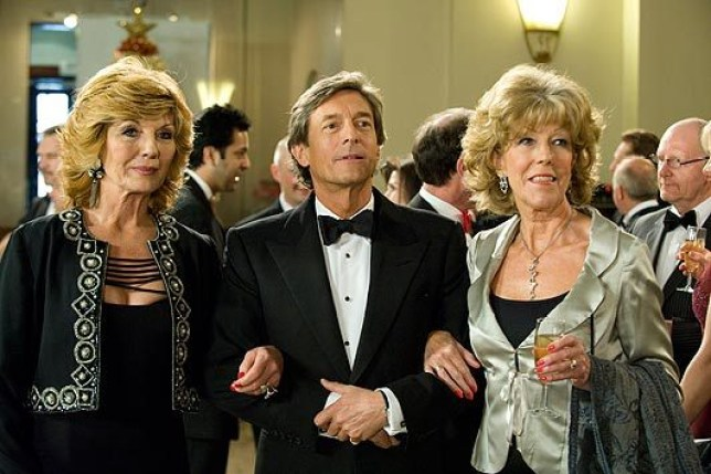 Audrey, Lewis and Claudia in Coronation Street