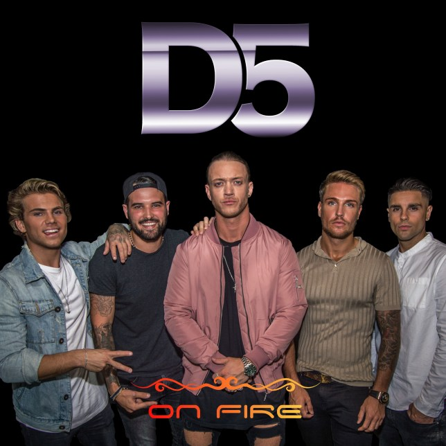 Ricky Rayment, Tom Zanetti, Shide Boss, Luke White and Jordi Whitworth have joined band D5 (Picture: D5)