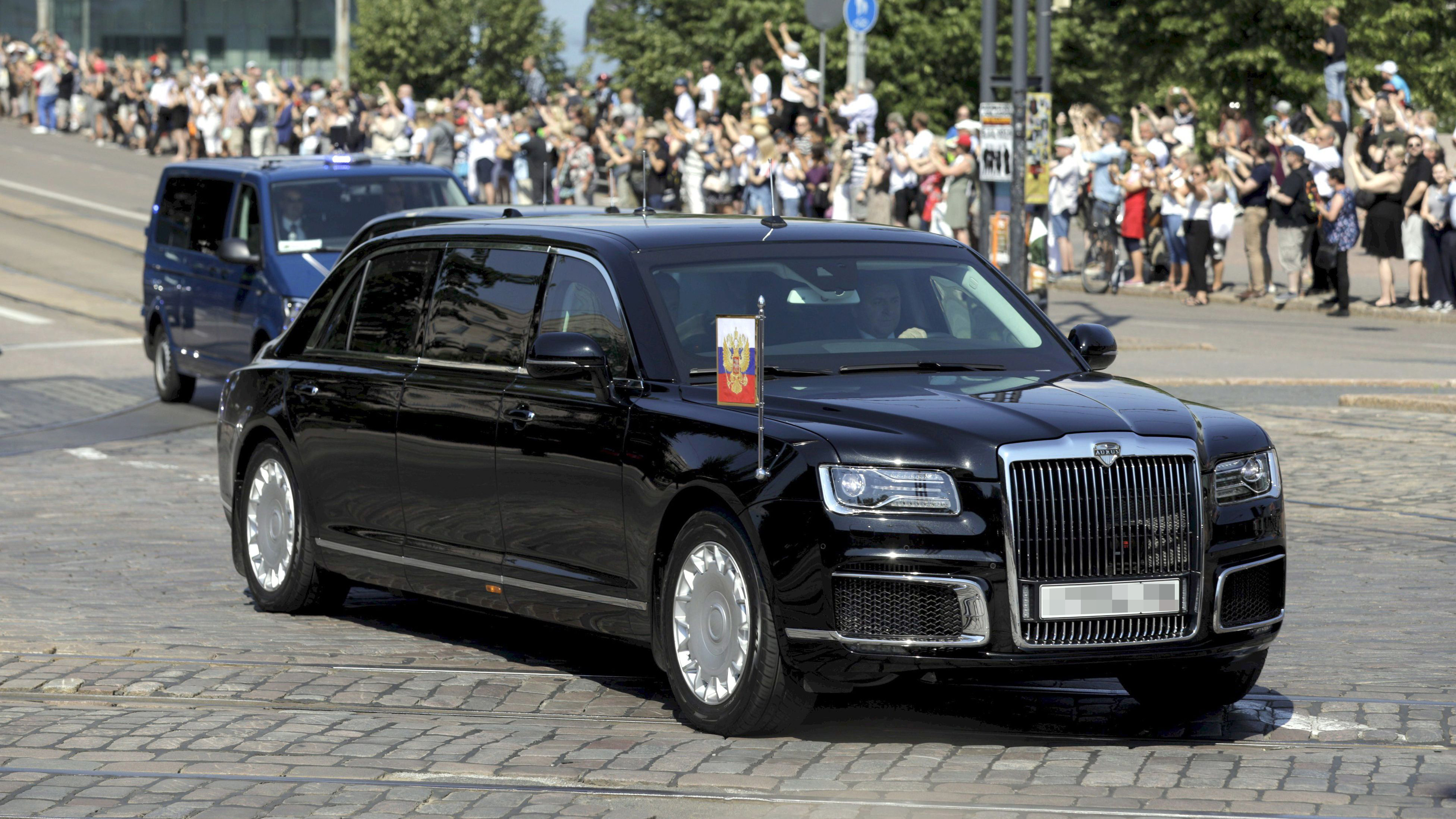 Putin's car looks like a Rolls Royce mated with The Beast