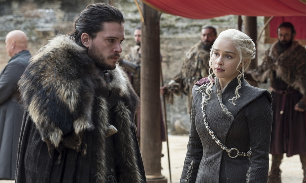 Jon Snow and Daenerys in Game of Thrones season 7