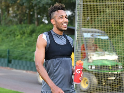 Pierre-Emerick Aubameyang trolls Liverpool's Alisson with the help of Alexandre Lacazette