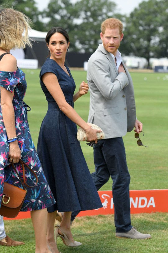9cb0a9b8d8c2 Harry and Meghan appeared happy as they attended the Polo (Picture: Karwai  Tang/WireImage)