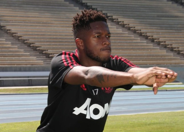 dce634e5b Manchester United finally confirm Fred s shirt number as he takes part in  first training session