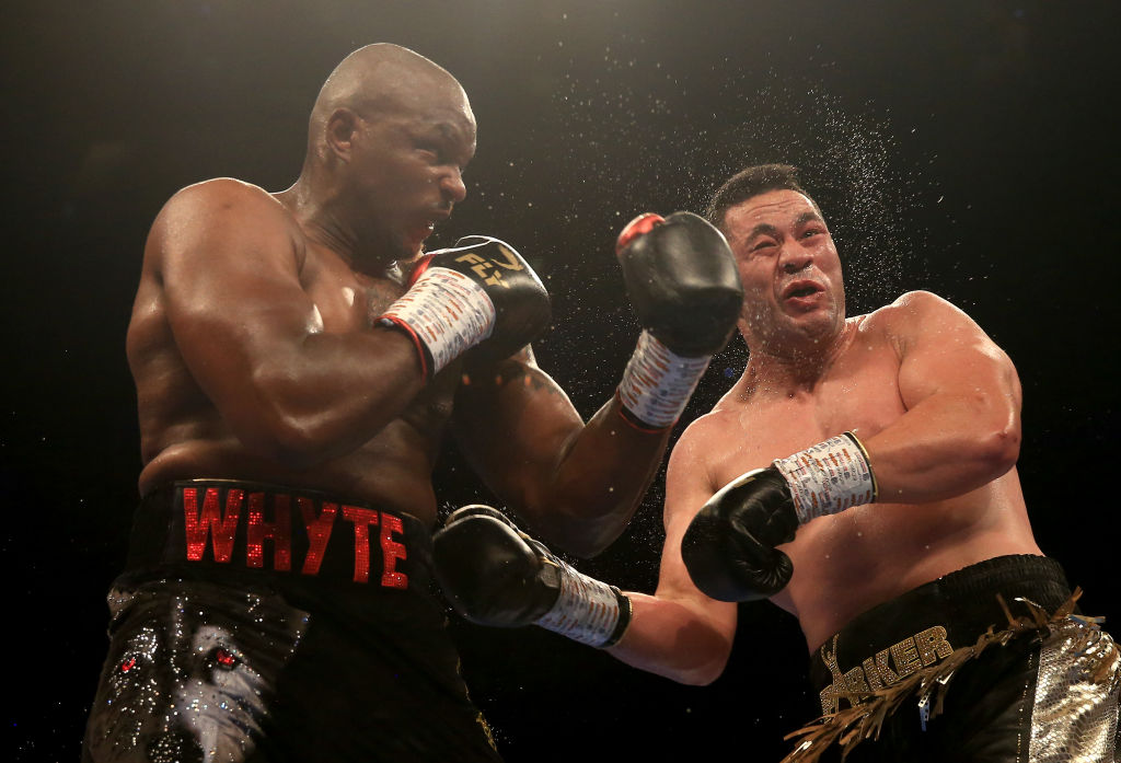 Dillian Whyte calls out Anthony Joshua after beating Joseph Parker on barnstorming night