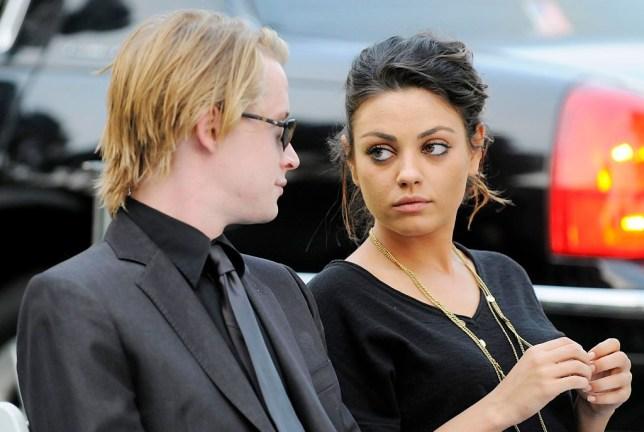 Macaulay Culkin and Mila Kunis at Michael Jackson's funeral