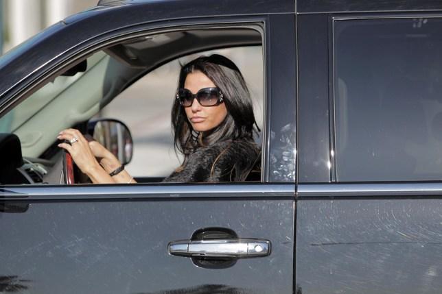 Katie Price driving