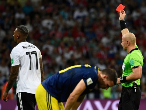 How many red cards have there been at the 2018 World Cup and what is the most and least ever?