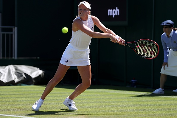 Valiant Harriet Dart gives Karolina Pliskova a scare at Wimbledon