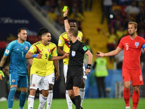 How many yellow cards did Colombia get vs England and what is the most bookings in a World Cup game?