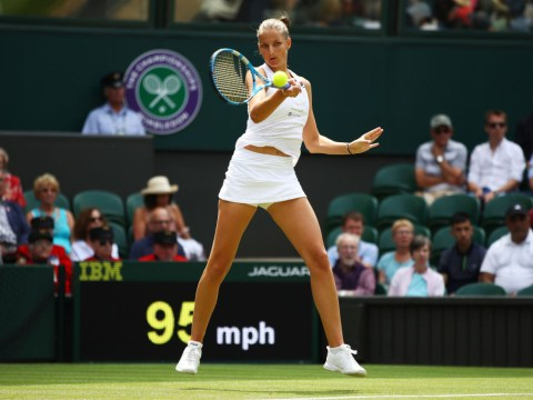 Karolina Pliskova wins battle of former world No. 1s to break Wimbledon curse