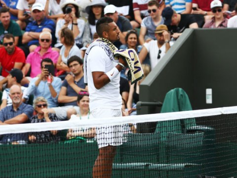Nick Kyrgios gets taught the rules of tennis during Wimbledon match