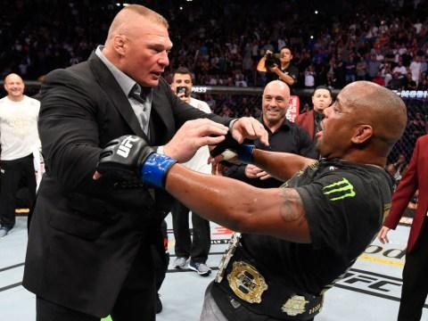 Brock Lesnar shoves Daniel Cormier in octagon melee after historic UFC 226 win