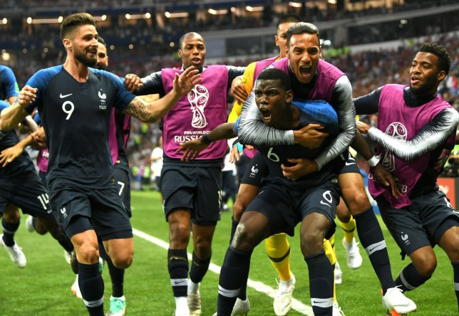 brand new a0bd6 1e21c Paul Pogba inspires France to World Cup final victory over ...