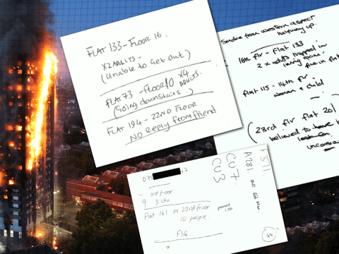 Chilling notes made by 999 workers reveal unending terror on night of Grenfell disaster