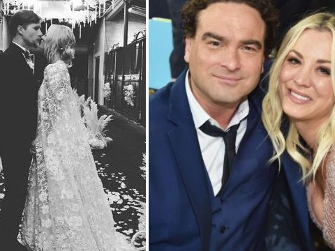 25738147d9ac Big Bang Theory s Johnny Galecki crops Kaley Cuoco out of congratulatory  post on her wedding day