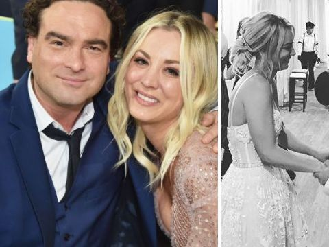 Johnny Galecki changes his tune with sweet message to Kaley Cuoco as she marries Karl Cook