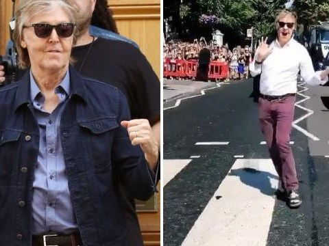 Paul McCartney recreates iconic Beatles' Abbey Road crossing photo as Stormzy and Kylie attend his secret gig