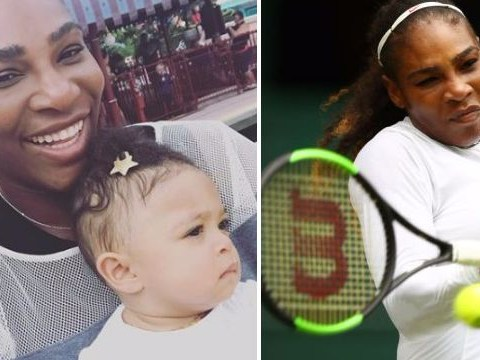 Serena Williams cries as she misses daughter Alexis' first steps for Wimbledon training