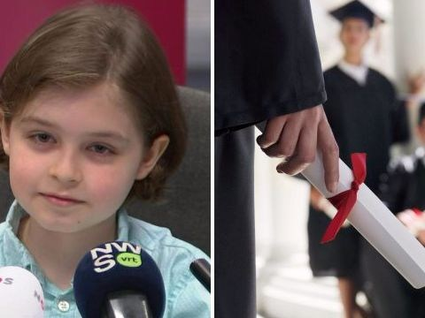 Child genius, 8, is about to start university after finishing school already