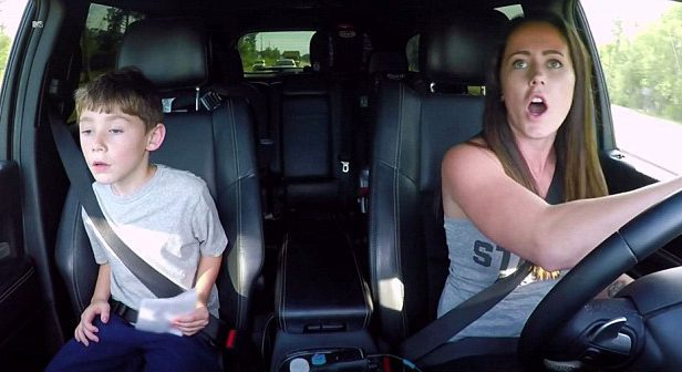 'He just hit my car': Teen Mom star pulls out gun in front of eight-year-old son during road rage rampage