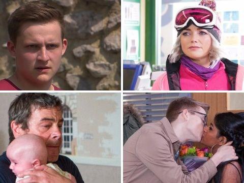 12 soap spoiler pictures: Emmerdale murder bloodbath, Coronation Street baby kidnap, EastEnders horror and Hollyoaks anger