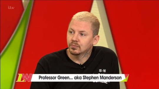 Professor Green opened up on today's loose women