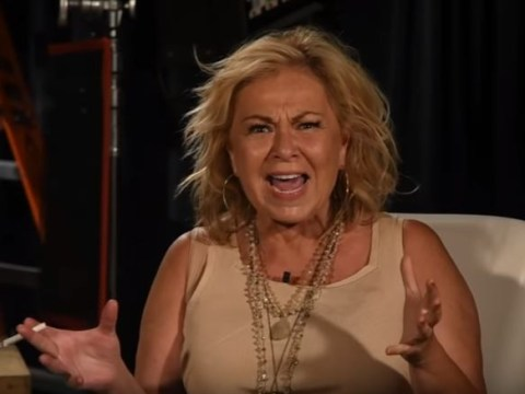 Watch Roseanne Barr chuff on cigarette and totally flip out at interviewer: 'I thought the b***h was white – godammit'