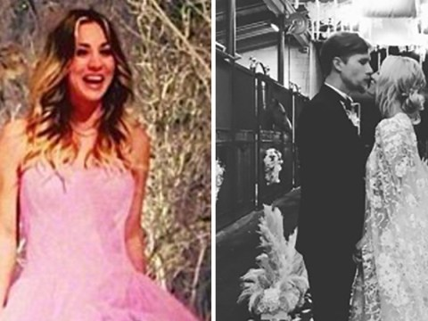 Kaley Cuoco wedding dresses compared as she marries Karl Cook