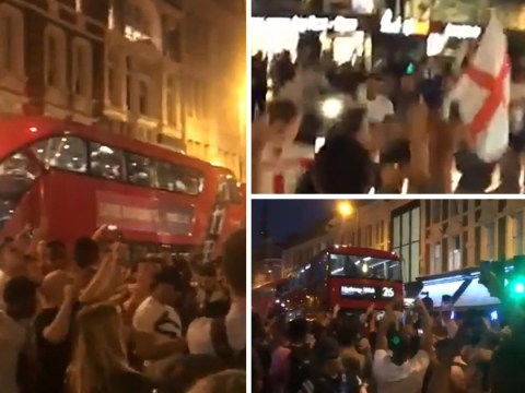 It's all kicking off in London after England beat Colombia in World Cup
