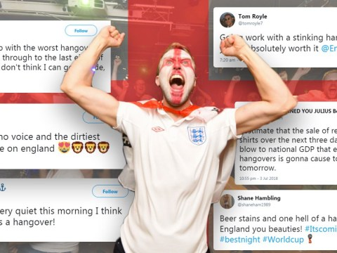 England wakes up with a national hangover after beating Colombia in the World Cup