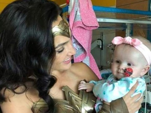 Gal Gadot dons Wonder Woman outfit to surprise sick children in hospital