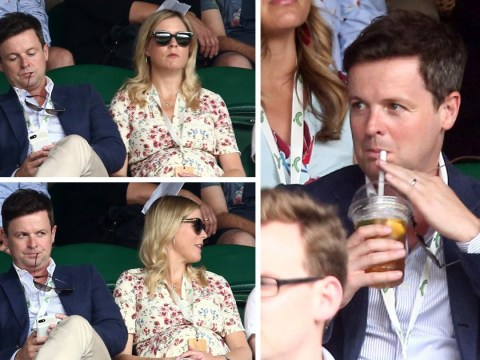 Declan Donnelly treats pregnant wife Ali Astall to a day at Wimbledon as Serena Williams delights crowds