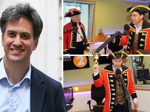 The Government is in crisis, but Ed Miliband is loving life as a town crier