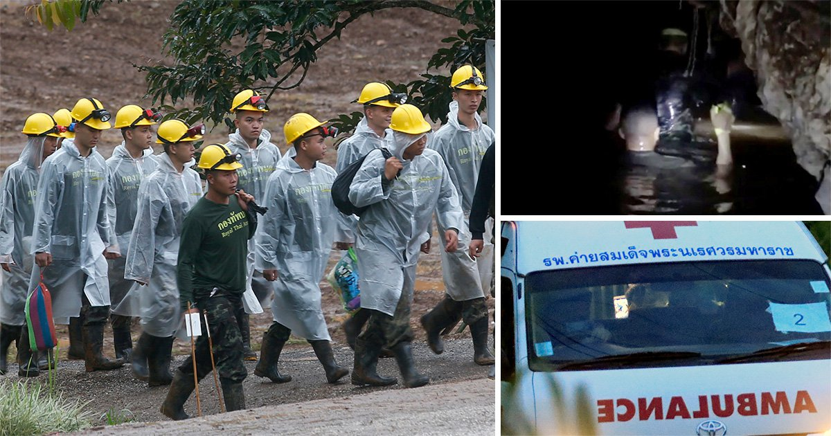 Thailand football coach 'to come out last' as mission to rescue final five begins