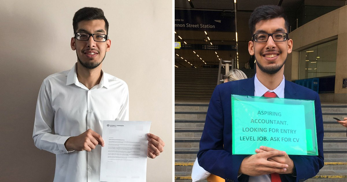 Student lands a job after handing out his CV at train stations