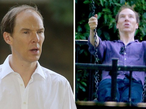 Benedict Cumberbatch shows off receding hairline in first pics of new Brexit drama