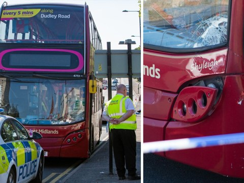 Two schoolboys seriously injured after being hit by double-decker bus