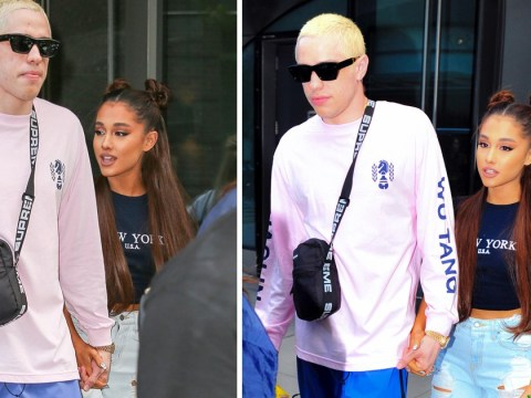 Ariana Grande shows off huge engagement ring as she heads out with Pete Davidson
