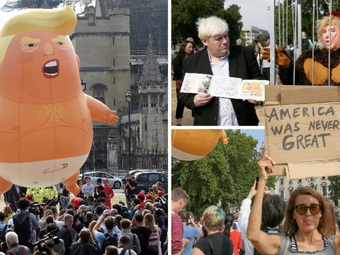 Protesters take to streets across the UK as Donald Trump makes his visit