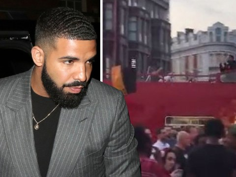Drake shoots music video on double decker bus in London and nobody notices