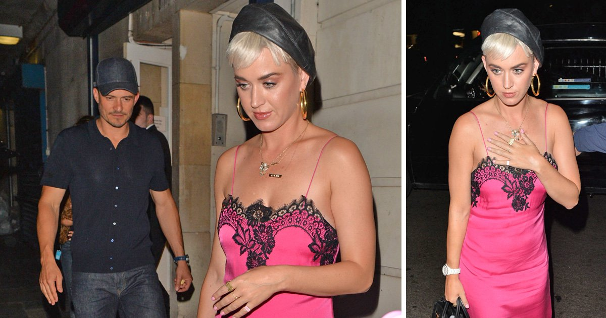 Katy Perry channels Lily Allen in pink dress and trainers as she enjoys date night with Orlando Bloom