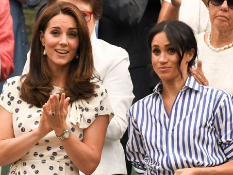Kate and Meghan look close as they watch Serena Williams play in Wimbledon final