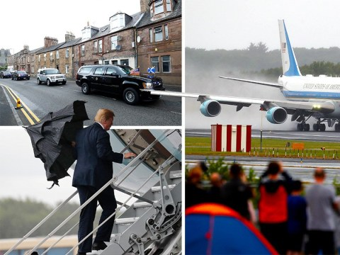 UK waves goodbye as Donald Trump jets out on Air Force One
