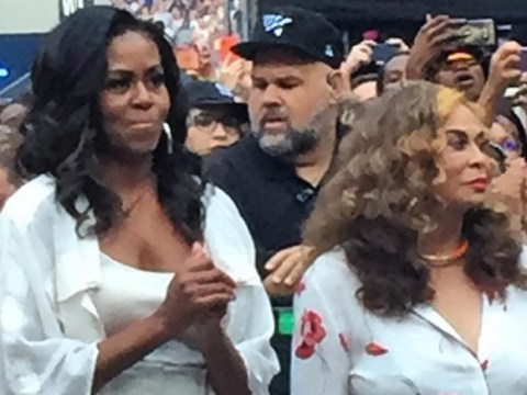Michelle Obama lives her best life as she watches Beyonce and Jay-Z's OTR II tour with Tina Knowles