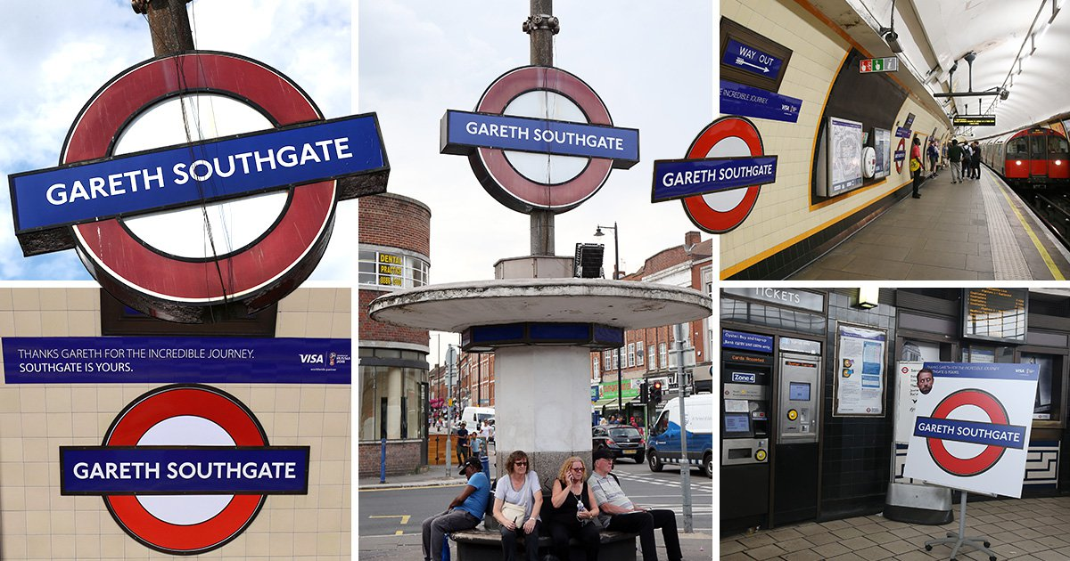 London tube station renamed Gareth Southgate in honour of England manager