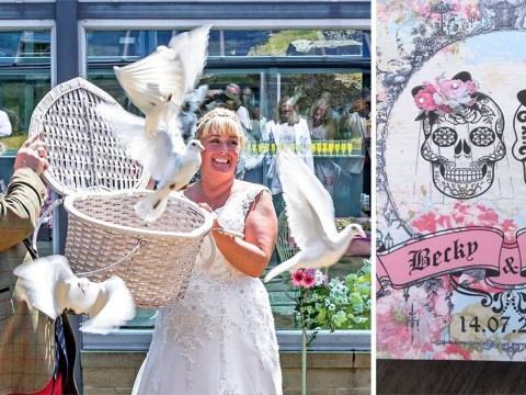 Couple marry in a crematorium to show their undying love