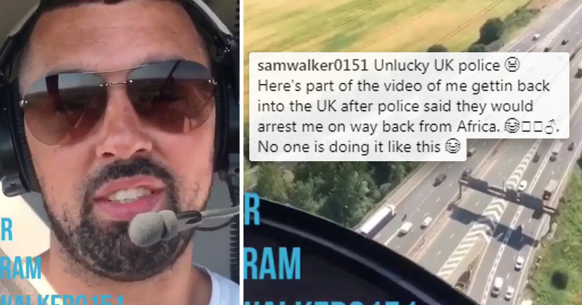 Notorious fugitive arrested after taunting police as he fled UK on private jet