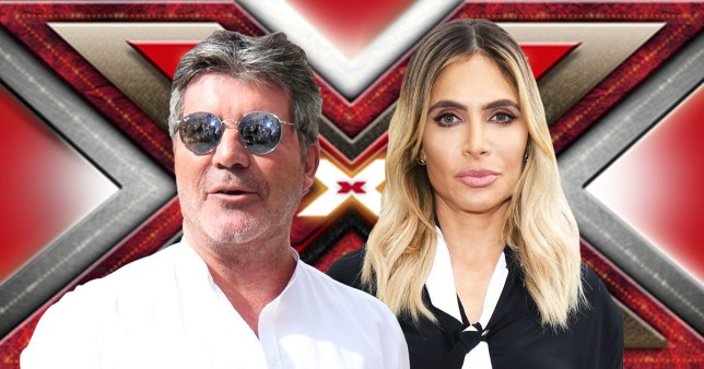 Ayda Field and Simon Cowell on The X Factor
