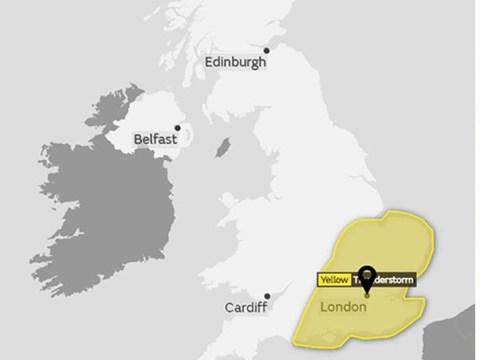 Thunderstorms to batter England bringing abrupt end to heatwave
